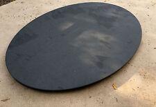 Couchtischplatte Esstischplatte Naturstein Schiefer Natur schwarz OVAL Tisch NEU