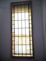 """Pearlescent Vintage Antique Church Leaded Stained Glass Windows Tiles 38""""x96"""""""