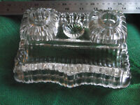 solid glass inkwells