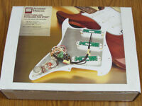 New Seymour Duncan Everything Axe Loaded Strat Pickguard White Prewired USA Made