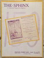 THE SPHINX MAGAZINE for Magicians Volume 43 Number 12- February 1945 Hocus Pocus
