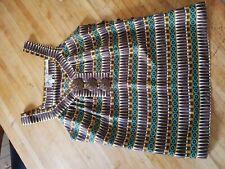 Bergdorf Goodman 4,  Aztec/modernist art Print Silk sleeveless NWOT