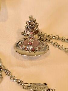 Vivienne Westwood small silver tone 3D Orb Pendant Necklace