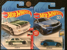 Lot of 2 Hot Wheels 2016 Blue BMW M2 &1992 92 White e30 m3 Police Rescue Polizei