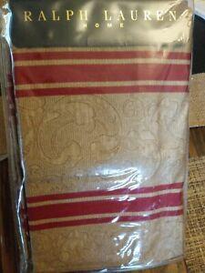 Ralph Lauren Jardiniere  Bertrand Red Stripe Cotton Sateen KING Pillowcases NIP