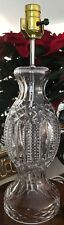 Irish Crystal Table Lamp with Harp and Crystal Finial