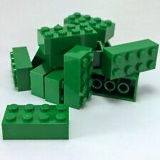 US 15 NEW LEGO Brick 2 x 4 BRICKS Green