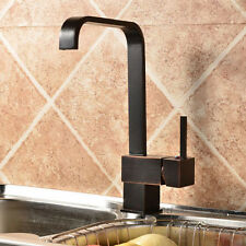 Black Traditional Single Lever Kitchen Sink Basin Mixer Tap Oil Rubbed Bronze