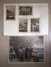 LOTTO FOTO ORIGINALI PADIGLIONE DEL SALONE DELL'AUTOMOBILE TORINO 1958