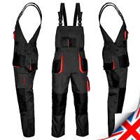 Overalls Mens Work Trousers- New Bib and Brace Knee Pad Dungarees Multi Pockets.