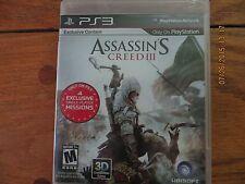 Assassin's Creed III (Sony Playstation 3, 2012) M