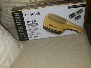 New Andis 1875-Watt Tourmaline Ceramic Ionic Styling Hair Dryer, Gold (82105)