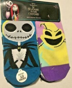 Disney's 'The Nightmare Before Christmas' Women's Socks  10 Pair (Size 4-10)