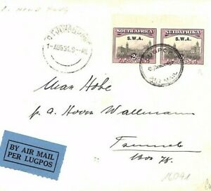 SOUTH WEST AFRICA *Official* Air Mail 2d PAIR Flight Cover via Tsume 1931 MS2937
