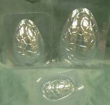 SET OF 6 EASTER EGG CHOCOLATE MOULDS / MOLDS - FREE 1st CLASS P&P. Made in UK