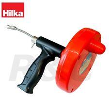 Hilka 4M x 6mm Drain & Pipe Unblocker Flexible Snake Shower Toilet Unblocker