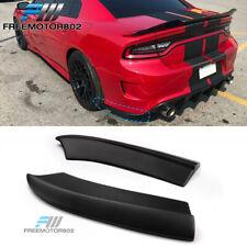 Fits 15-19 Dodge Charger SRT Style Rear Bumper Lip Aprons Matte Black - PP