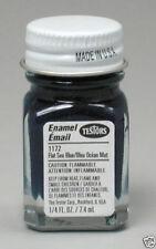 Testors 1/4 oz Flat Sea Blue Enamel Paint 1172