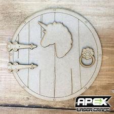 Fairy Door Kit #8 - Round Unicorn Motif Hobbit Door - Make your own! FY-DOOR-008