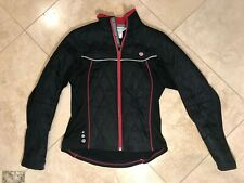 PEARL IZUMI Women's Cycling Jacket Quilted Thermal Small Black w/ Flowers