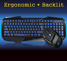 Aula BEFIRE Blue LED Backlit Gaming Keyboard + 7D 2000DPI Usb Gaming Mouse SET