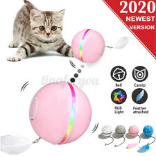 Pet Cat Toy Smart Led Flash Interactive Rolling Ball Usb Charging Automati