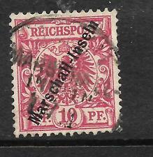 MARSHALL ISLANDS GERMAN 1897  10pf  CARMINE  FU  SIGNED  Sc 3