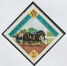 Ireland - Thomond (783) 1968 EUROPA opt doubled, one inverted on 2.5d Horse race