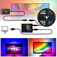 Striplight 5V USB WS2812B LED Streifen Licht PC Desktop Dream Screen Monitor 5M