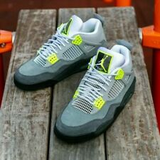 Nike Air Jordan 4 IV Retro GS Neon AM95 - Grey / Volt - Sizes 3-6UK CT5343-007