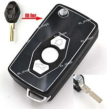 Flip Folding Remote Key Case Upgrade Shell For BMW 3 5 7 SERIES 325i E38 E39 E46