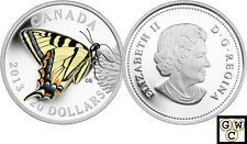 2013 Proof $20 Silver 'Tiger Swallowtail Butterfly' Colorized Silver Coin (OOAK)