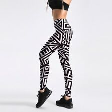 girl leggings Black White Geometry Triangle Printed Women Legging pant C1033
