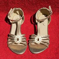 Goldene Andrea Conti Damen Sandalen NEU Strass Gold Sandalette Schuhe Gr. 41 NEU