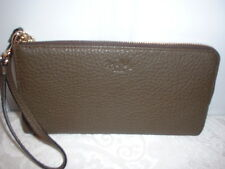 NWT Coach Bleeker Leather L Zippy Wallet Wristlet 51981 Olive Fatigue
