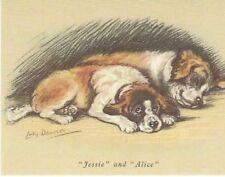 Saint / St. Bernard Puppy - Matted Dog Print - Lucy Dawson