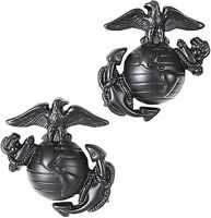 Subdued USMC Globe & Anchor US Marines Logo Insignia Set