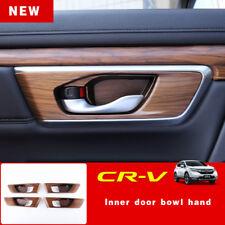For Honda CRV CR-V 2017 2018 Peach Wood Grain Indoor bowl Panel cover trim 4PCS