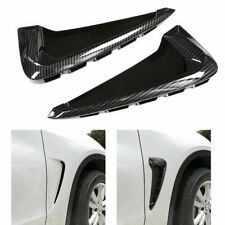 For BMW X5 F15 2014-2018 Side Flow Wing Air Flow Fender Vent Trim Grill 1 Pair