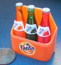 1:12 Scale 3 Fanta Bottles Fixed In A Case Tumdee Dolls House Pub Bar Accessory