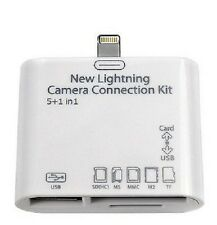 5 in 1 Lightning to USB Micro SD Camera Combo Adapter Fr iPad 4 Mini Air 2 iOS 9