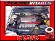 BLACK RED 92-98 VW GOLF GTI/CORRADO SLC/JETTA/PASSAT 2.8 2.8L VR6 V6 AIR INTAKE