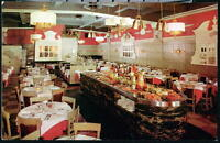 NYC NY Zucca's Italian Restaurant Roman Table View Vintage City Postcard Old PC