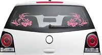 BUTTERFLY FLOWER STICKERS X2  Car Bumper Van Window Wall Laptop VINYL DECALS