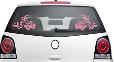 2x BUTTERFLY FLOWER STICKER Car Bumper Van Window Wall Laptop VINYL DECALS