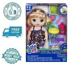 New Baby Alive Sweet Spoonfuls Blonde Infant Girl Doll Set w Bottle Diaper Comb