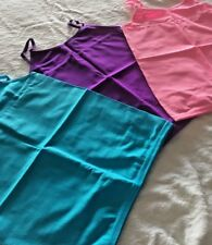 NWT Pink House Girls Jersey Tank Tops 3 Pk Size 7-16 Purple Pink Red Stretch