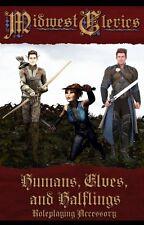 Humans, Elves, Halflings - Plastic RPG Miniature Pawns