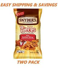 Snyder's of Hanover Hot Buffalo Wing Pieces Pretzels 12 Oz PACK OF TWO EASY SHIP