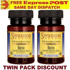 Boron PREMIUM BRAND Swanson DOUBLE STRENGTH 60 Caps 6 mg AUS STOCK FAST SHIPPING